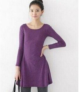 Hot Sale Spring Women Dress Fashion Pure Color 100% Cotton Casual Dress Long Sleeve Woolen Spring Autumn Winter Dresses Vestidos