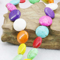 12mm DIY Loose Beads Accessories Jewelry Colorful Round Turkey Howlite Chalcedony Semi Finished Stones Women Girls Gifts