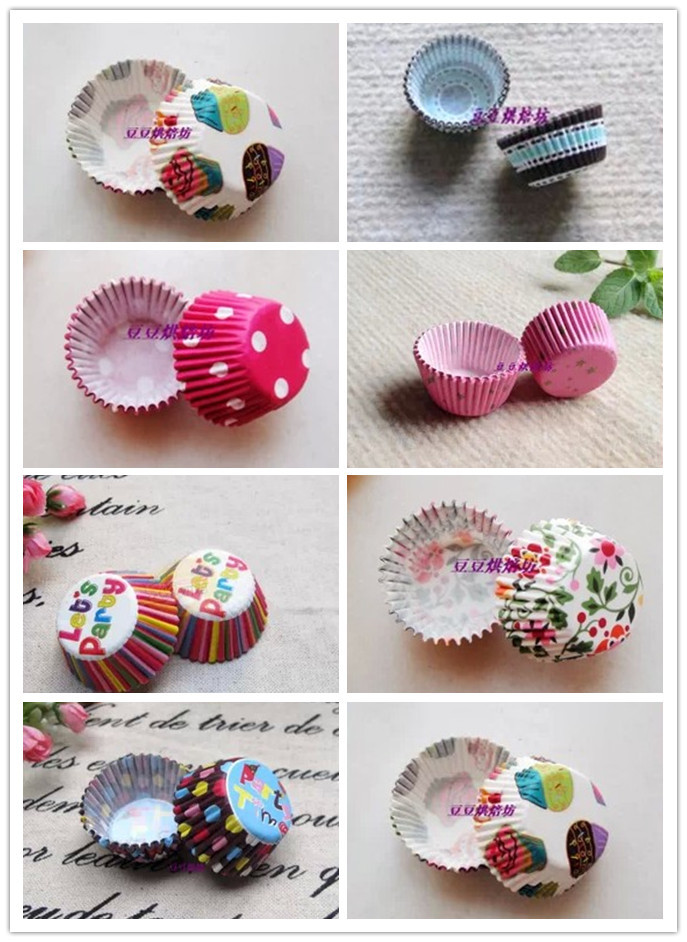 Mini size Assorted Paper Cupcake Liners Muffin Cases Baking Cups cake cup cake mould decoration 2