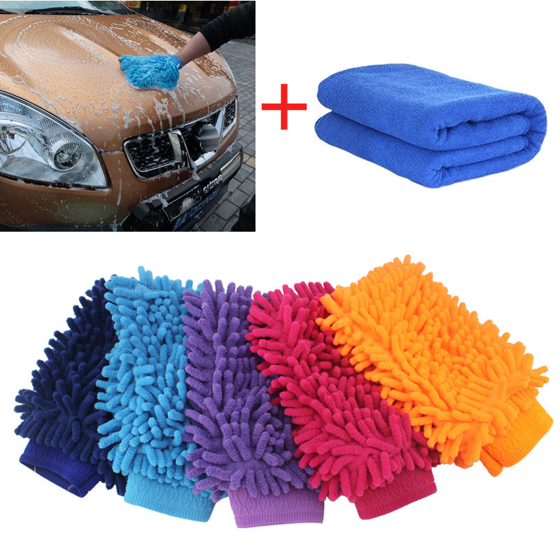 Car Cleaning Brush Cleaner Tools Microfiber Super Clean Sponge Product Cloth Towel Wash Gloves Supply Car Styling