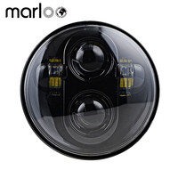 Marloo 5 3/4 Round Led Headlamp Harley Dyna Sportster 1200 48 883 Parts Headlight 5.75inch Harley