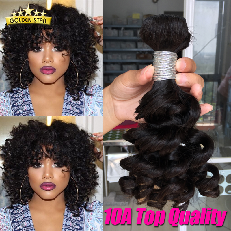 10a Peruvian Virgin Hair Weave 3pcs Curly Human Hair