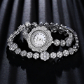 Xinge Top Brand Watch Luxury Zircon Flowers Bracelet Quartz Watch Ladies Dress Watch Clock Fashion Casual Business Watch