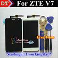 """Высокое Качество Сенсорного Экрана и ЖК-Дисплей Планшета Тяга Для ZTE Blade V7 5.2 """"Сотовый Телефон Черный/Белый Цвет"""