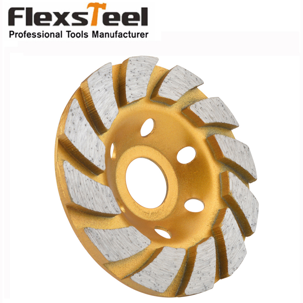 4 inch Turbo Diamond Cupwheel For Grinding Granite Stone marble Concrete