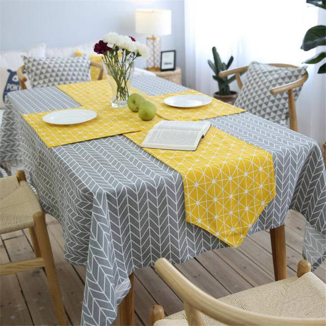 Genial European High Grade Linen Cotton Colorful Jacquard Lattice Table Runner  Placemats Upscale Fabric Coffee Table Flag