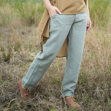 XianRan Summer Antumn Women Pants Long Loose Pockets Linen Pants Plus Size Trousers High Quality 2017