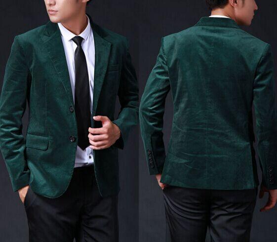 Wedding Suits For Mens Velvet Blazer 2016 M 1127 Dark Green Velvet