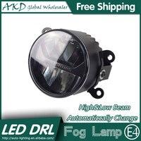 AKD Car Styling LED Fog Lamp For Peugeot 207 DRL Emark Certificate Fog Light High Low