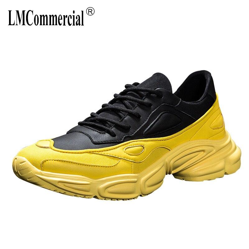 ของแท้หนัง casual รองเท้าบุรุษทั้งหมด cowhide ฤดูใบไม้ผลิฤดูใบไม้ร่วงฤดูร้อน Hip hop breathable รองเท้าผ้าใบแฟชั่นรองเท้าผู้ชาย-ใน รองเท้าลำลองของผู้ชาย จาก รองเท้า บน   1