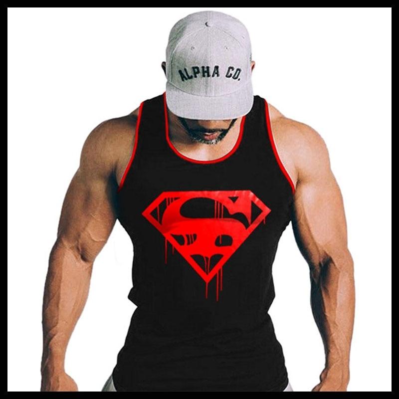 Halsketten & Anhänger Diskret Oa Männer Mens Vintage Blut Superman Tank Top Fitness-studios Bodybuilding Stringer Sport Sportlich Weste Auswahlmaterialien Anhänger