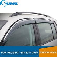 Window Visor for Peugeot 508 2011-2016 side window deflectors rain guards PEUGEOT 2011 2013 2014 2015 2016 SUNZ