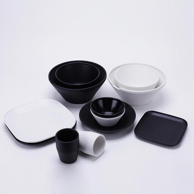 Japan Style Dinnerware Set Black/White Matte Glazed Porcelain Tableware Dinnerware Set Bowlu0026Plates Cup 12pcs & Japan Style Dinnerware Set Black/White Matte Glazed Porcelain ...