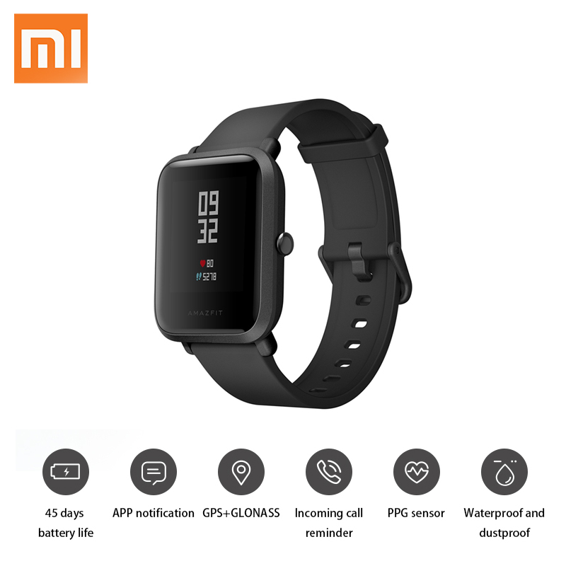 Original Xiaomi Amazfit Huami Smart Watch Youth Edition English Version Bip Lite IP68 GPS Heart Rate