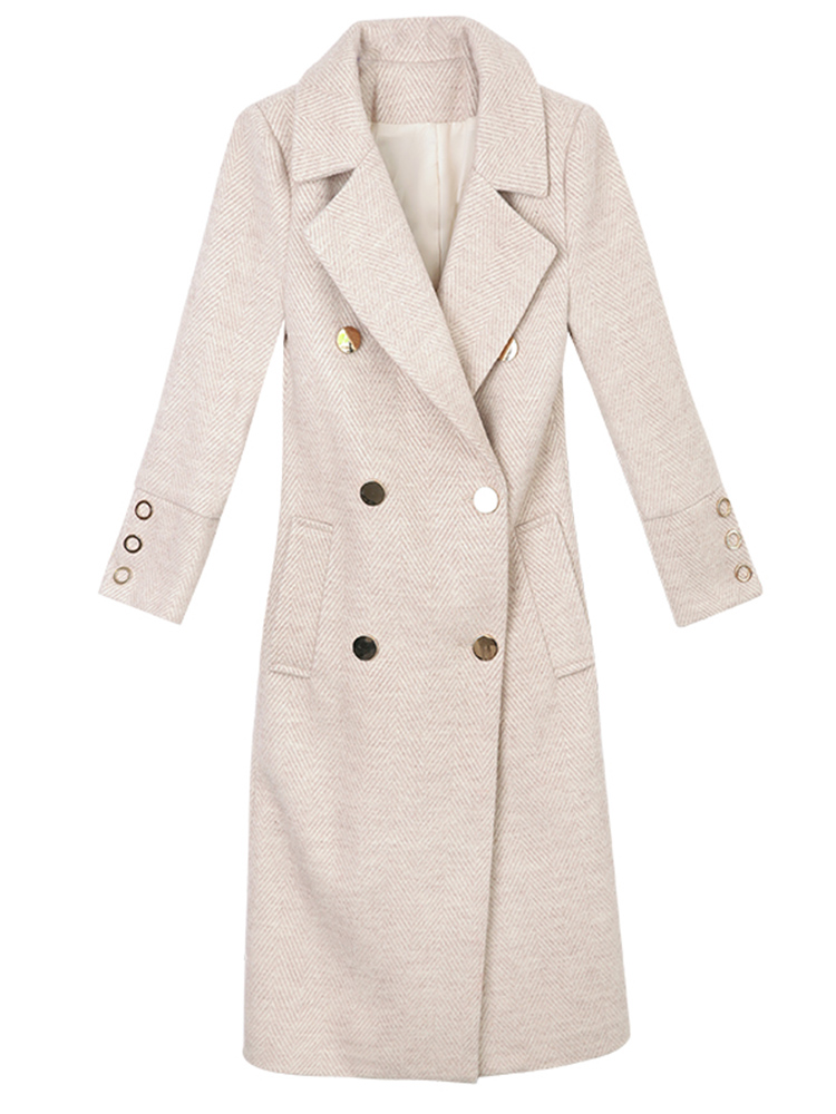 Automne culture Et Manteau D'hiver Mao Beige Nouvelle Auto rose Moyen Longueur bleu Femme Coréenne 2018 Version Mode Laine De Manteau Tse 6Fg0Y