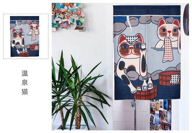 Taiwan Japan Stil Chinesische Maskottchen Gluckliche Katze Stoff Tur Vorhang Schatten Hangen Schlafzimmer Wohnzimmer Kuche Dekoration