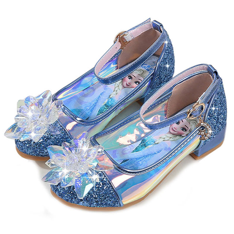 Kids Girls Dancing And Party Shoes Rhinestones Else Shoes For Girls Beautiful High Quality Children Leather Shoes For Girl