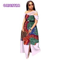 AFRICAN DRESSES FOR WOMEN BAZIN RICHE DRESSES LONG DRESS FOR PARTY TRADITIONAL AFRICAN WOMEN WEDDING DRESS CLOTHING WY2837