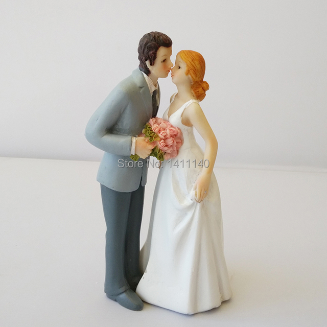 Free Shipping Romantic Wedding Cake Toppers White Supplies Decorations