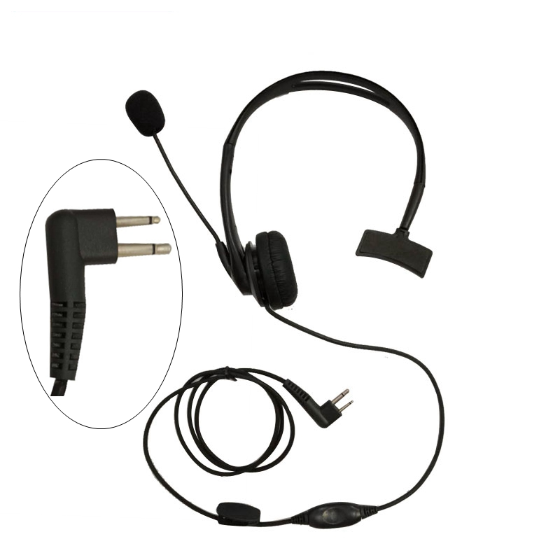 Over-the-Head Earpiece Headset Swivel Boom Microphone Noise Cancelling For Motorola Radio GP88 GP2000 GP300 Walkie Talkie