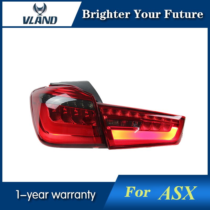 Modified LED Rear Lamps For Mitsubishi Asx Out 2012 2013 2014 2015 2016 LED Tail Lights Red Taillight l r led clear red tail lights for mondeo fusion 2013 2016 rear lamps