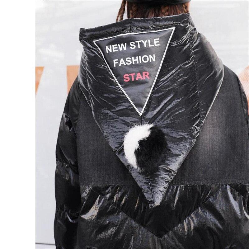 Capuche Hiver De Noir En Longue Vêtements 2019 Down Long Épais Femme Veste Chaud Capuchon Mode À Coton Manteau Femmes Dames Parkas 8qwdBY