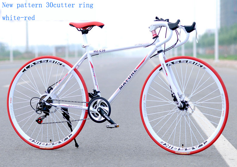 Bicycle Car-Disc-Brake Road-Bike 700C High-Carbon-Steel Variable-Speed Student 21-Speed-Sports title=