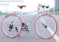 Fahrrad High Carbon Stahl Rennrad 700C (27.3-Zoll) 21 geschwindigkeit Sport Auto Disc Bremse Variable Geschwindigkeit Student Auto