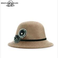Bingyuanhaoxuan 2018 модная Милая винтажная валяная шапка из