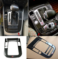 Interior Central Control Gear Shift Panel Decoration Cover Trim for Audi A5 A4 B8 Car styling Carbon fiber 3D stickers decals