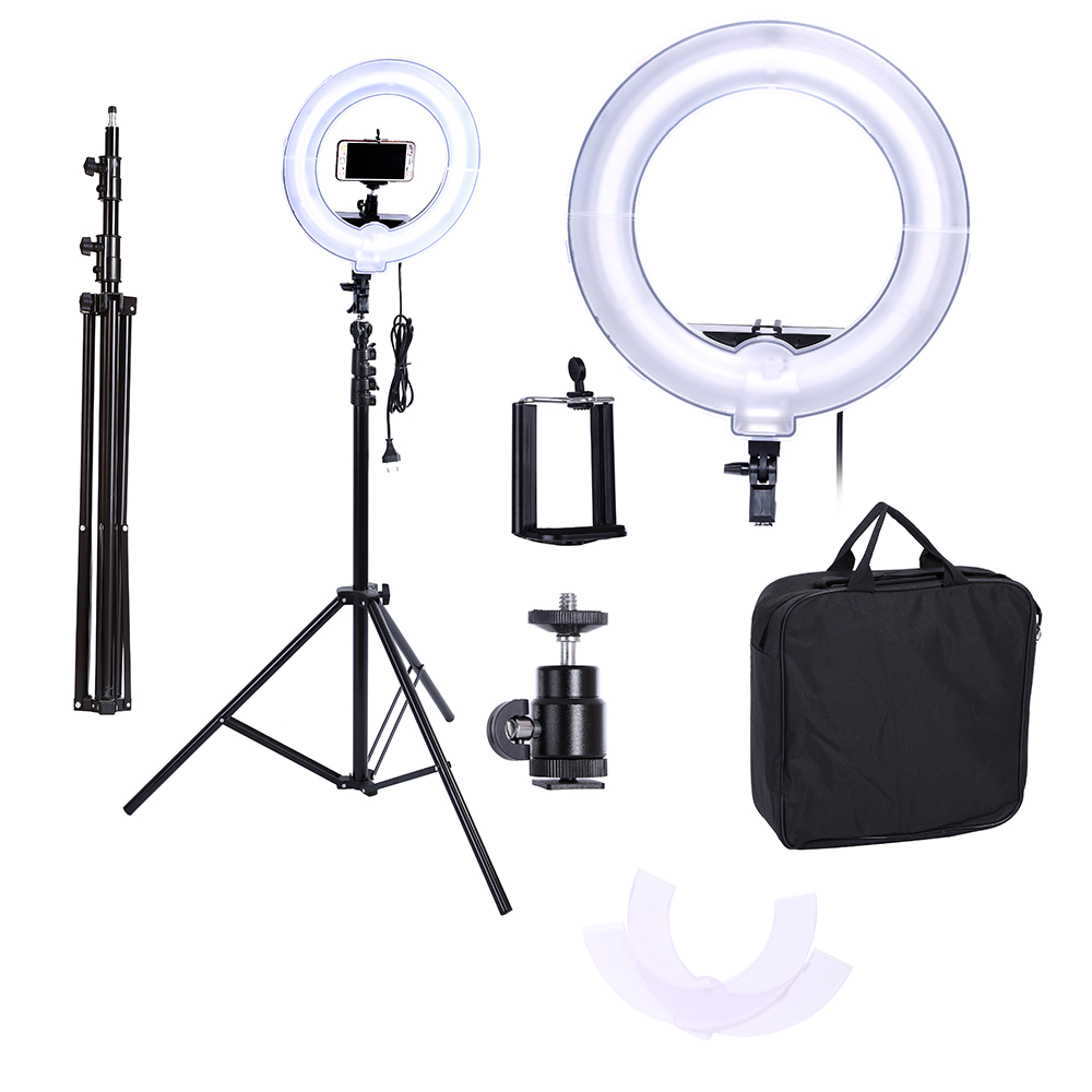 Camera Photo Video 13 inches Ring Fluorescent Flash Light Lamp for Portrait Photography Video Shooting with
