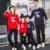 (3XL 4XL) Tapones de Algodón A Juego de la familia Familia Conjunto de la Navidad Ciervos Madre Padre Hija Hijo Ropa Niños Ropa Familia LT7