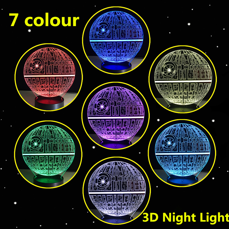 Star Wars LED 3D Lamp Night Light USB 7 Colors Adjustable Lamp Lighting Atmosphere Night Light For Children Gift Home Decor