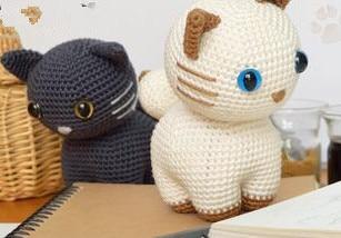 Crochet Toys  Amigurumi Rattle Cat  Model  Number  W3
