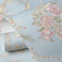 Rococo Style Floral Wallpaper Self Adhesive Sticker Roll Contact Paper