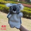 Candice guo! venda quente bonito Koala brinquedo de pelúcia fantoche de mão brinquedo aplacar bebê contar a história do presente 1 pc