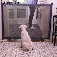 Haustier Hund Zäune Tor Folding Sicherheit Pet Isoliert Netzwerk Laufstall Für Hund Katze Baby Isoliert Hause Tür Zaun Käfig Pet zubehör