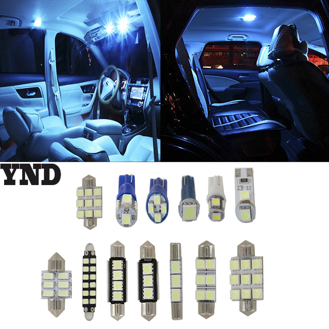 12pcs Ice Blue Led Package Kit Bulbs Car Interior Lights For 2004 2008 Acura Tl