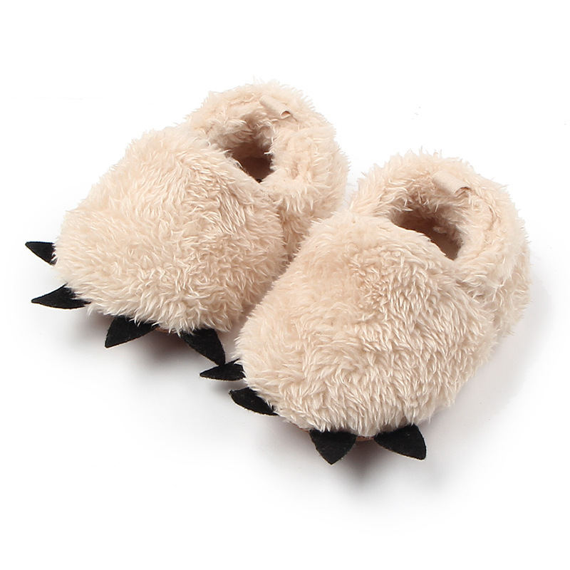 Winter-New-Cute-Modeling-Monster-Paw-Baby-Warm-Slippers-moccasins-Shoes-First-Walkers-Photo-Props-Accessories-Baby-Clothing-3