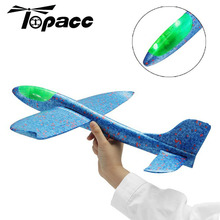 Blue EPP Foam Hand Throwing Plane Outdoor Launch Airplane Kids Gift Toy 48cm Interesting Toys For Childern Updated Version hand throwing epp foam airplane model outdoor sports interesting toys