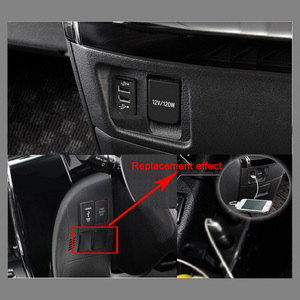 Image 2 - Dual USB Car Charger Adapter For Suzuki 5V 2.1A Cars USB Charger For Mobile Phones Navigation GPS Tracker Vehicle Socket