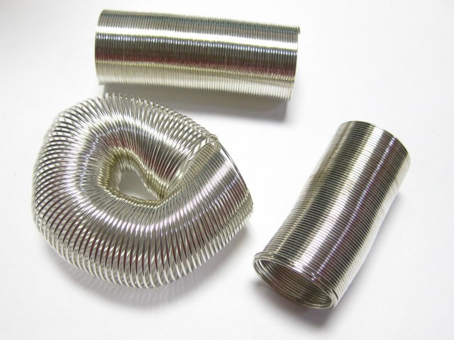 Silver Tone ab.200 Loops Memory Beading Wire Ring 20mm
