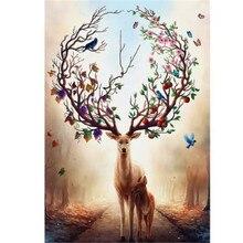 Diamond Painting Diy 5D Embroidery Cross Stitch Dream Elk Full Rhinestones Mosaic Animal Pcitures New LUOVIZ