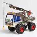 243 pcs Metal Building Blocks Aprendizagem & Brinquedos Educativos Para Crianças/Crianças Carros Guindaste Carros de Brinquedo Hot Wheels Tijolo 3D Designer oyuncak