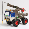 243pcs Metal Building Blocks Learning&Education Toys For Children/Kids Crane Cars Toy Cars Hot Wheels Brick 3D Designer oyuncak