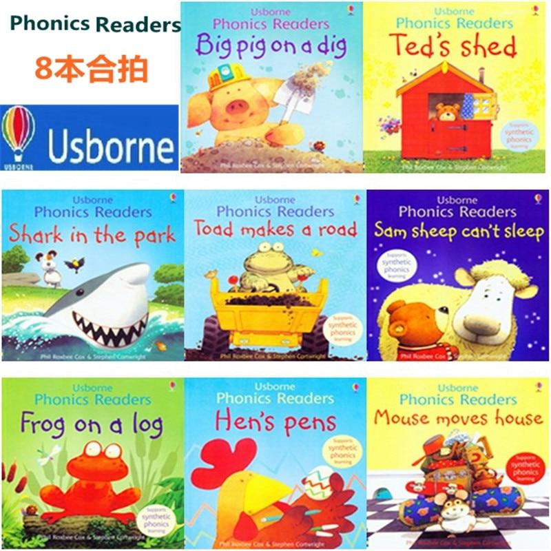 English Children's Picture Book Original Enlightenment Warm Parent-child Storybook Reading Phonics Readers 8books/set