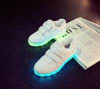 2017 Sneakers Children USB Charging Luminous Lighted Sneakers Boys Girls Colorful Led Lights Children S Shoes