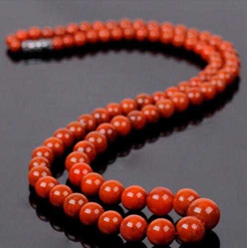 Ddh001425 Noble nanhong chino ágata prayer bead mala preocupe pema raka collar