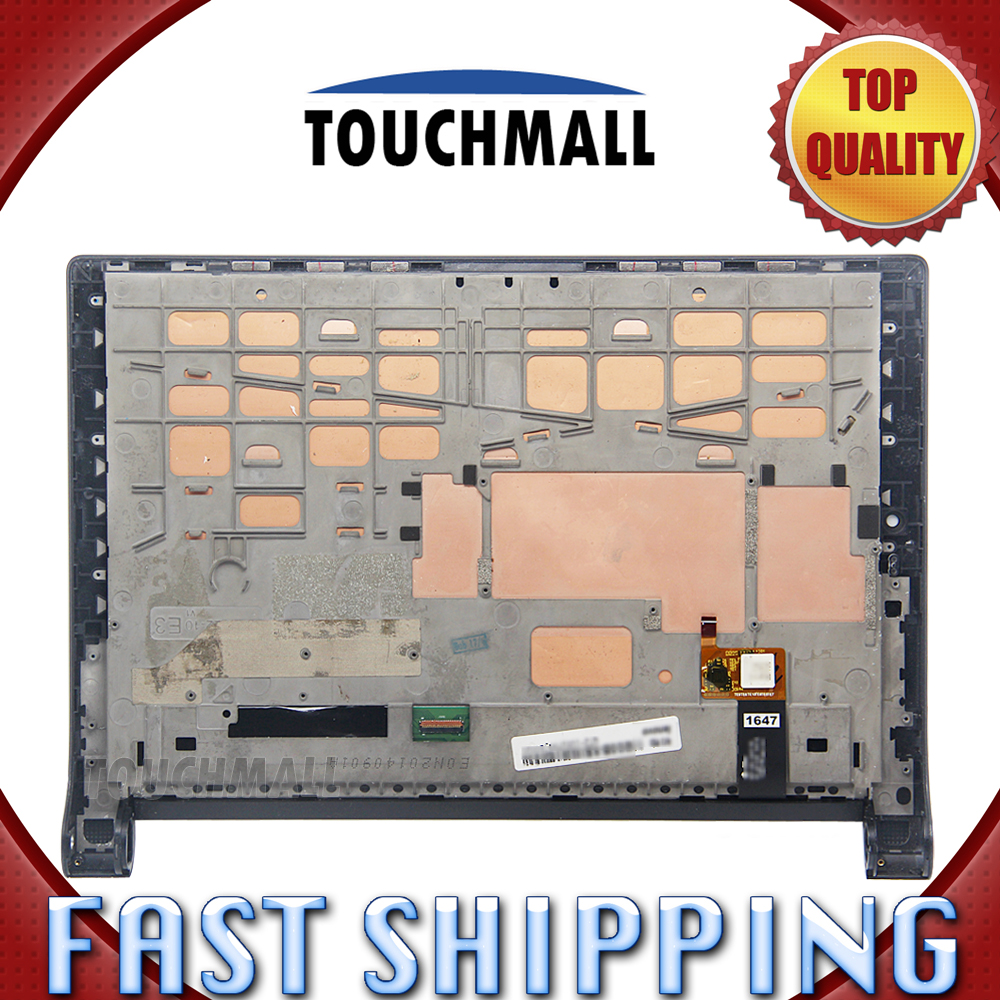 For New LCD Display Touch Screen Digitizer with Frame Assembly Replacement Lenovo Yoga Tablet 2 1051 1051F Free Shipping 100% new tested for motorola moto x style x3 xt1570 lcd screen display with touch digitizer tools assembly 1 piece free shipping