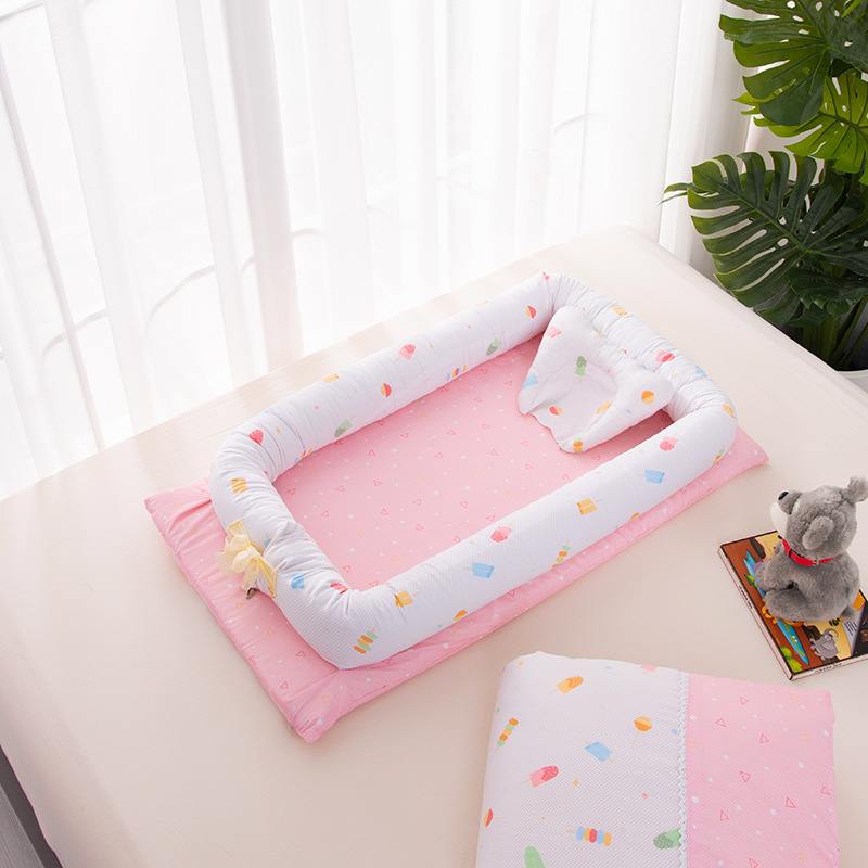 100% Pure Cotton Portable Crib Bed In The Bed Removable And Washable Newborn Baby Sleep Artifact Fold Bed 90*50*15cm100% Pure Cotton Portable Crib Bed In The Bed Removable And Washable Newborn Baby Sleep Artifact Fold Bed 90*50*15cm
